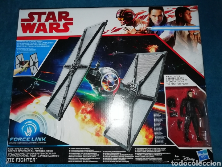 STAR WARS NAVE/FIGURA TIE FIGHTER FORCE LINK (Juguetes - Figuras de Acción - Star Wars)