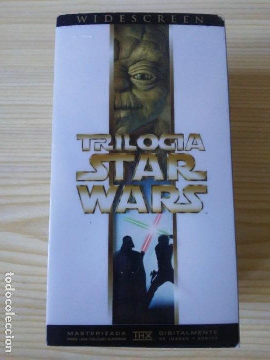 Figuras y Muñecos Star Wars: Trilogía Star Wars widescreen masterizada digitalmente thx 3 vhs - Foto 2 - 194974265