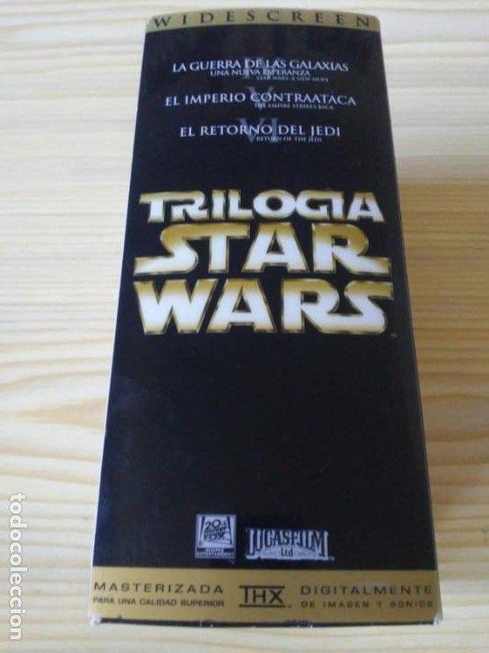 Figuras y Muñecos Star Wars: Trilogía Star Wars widescreen masterizada digitalmente thx 3 vhs - Foto 3 - 194974265