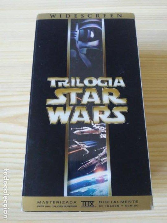 Figuras y Muñecos Star Wars: Trilogía Star Wars widescreen masterizada digitalmente thx 3 vhs - Foto 4 - 194974265