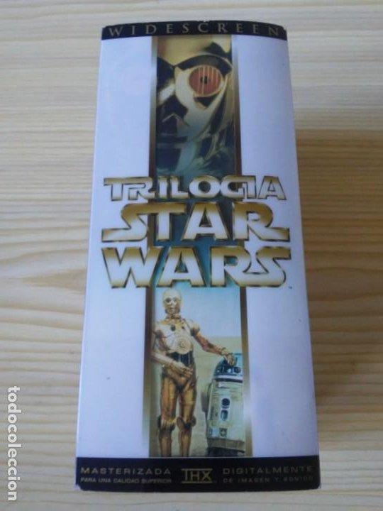 Figuras y Muñecos Star Wars: Trilogía Star Wars widescreen masterizada digitalmente thx 3 vhs - Foto 5 - 194974265
