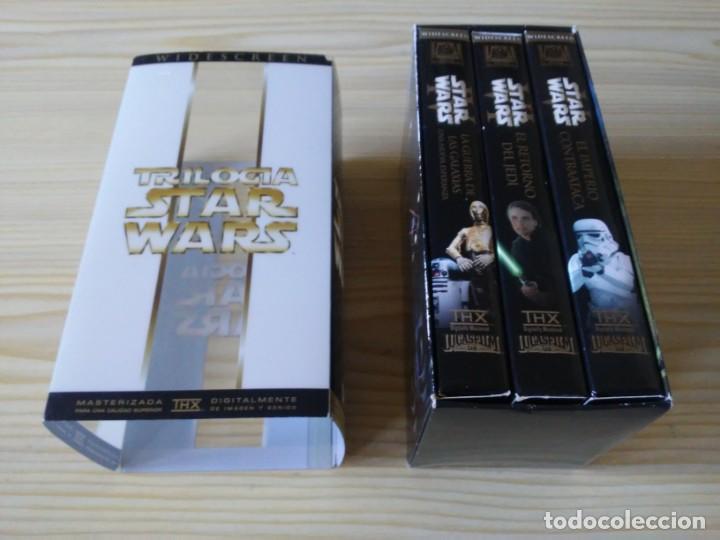 Figuras y Muñecos Star Wars: Trilogía Star Wars widescreen masterizada digitalmente thx 3 vhs - Foto 6 - 194974265