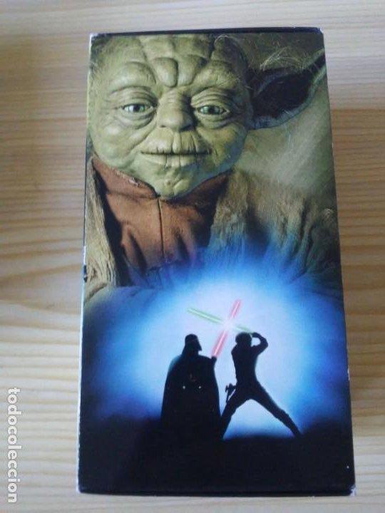 Figuras y Muñecos Star Wars: Trilogía Star Wars widescreen masterizada digitalmente thx 3 vhs - Foto 7 - 194974265