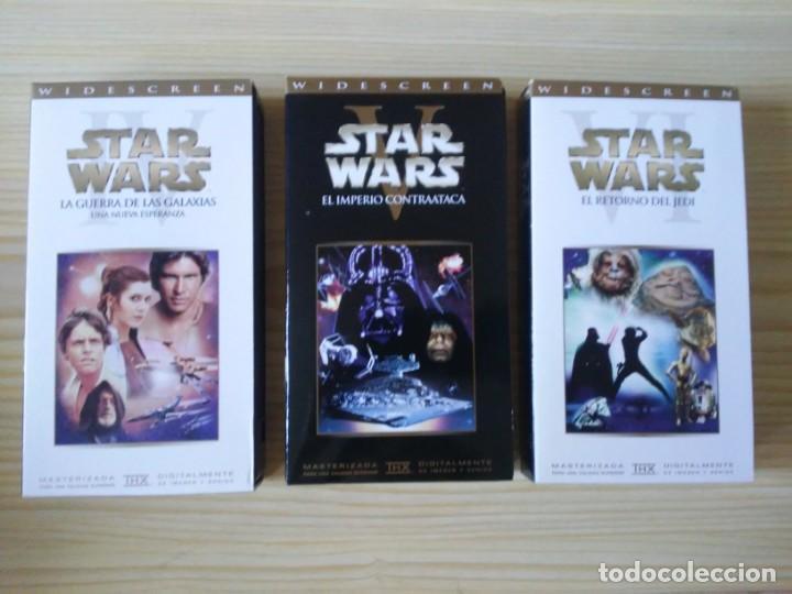 Figuras y Muñecos Star Wars: Trilogía Star Wars widescreen masterizada digitalmente thx 3 vhs - Foto 11 - 194974265