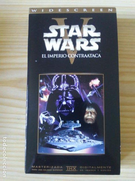 Figuras y Muñecos Star Wars: Trilogía Star Wars widescreen masterizada digitalmente thx 3 vhs - Foto 14 - 194974265