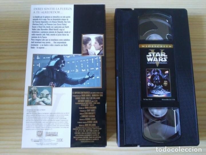 Figuras y Muñecos Star Wars: Trilogía Star Wars widescreen masterizada digitalmente thx 3 vhs - Foto 15 - 194974265