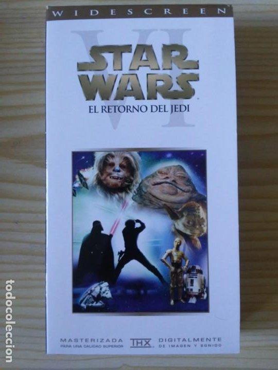 Figuras y Muñecos Star Wars: Trilogía Star Wars widescreen masterizada digitalmente thx 3 vhs - Foto 16 - 194974265