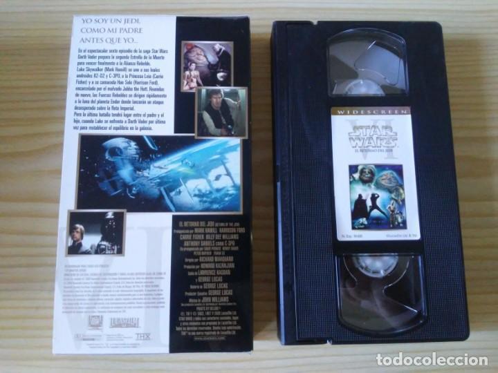 Figuras y Muñecos Star Wars: Trilogía Star Wars widescreen masterizada digitalmente thx 3 vhs - Foto 17 - 194974265