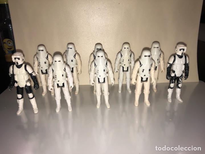 SNOWTROOPER LOTE - BIKER SCOUT - LOTE DE 10 FIGURAS - STAR WARS VINTAGE 1980'S (Juguetes - Figuras de Acción - Star Wars)
