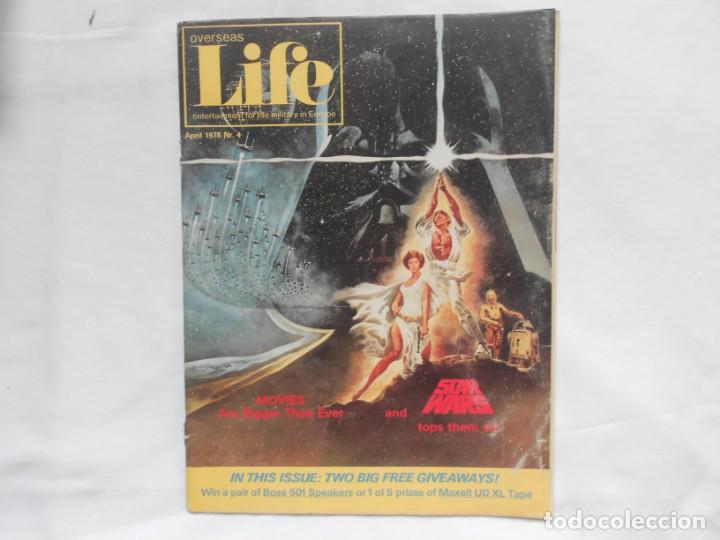 REVISTA OVERSEAS LIFE APRIL 1978 STAR WARS RARA (Juguetes - Figuras de Acción - Star Wars)