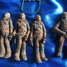 Figuras y Muñecos Star Wars: STAR WARS 4 CHEWBACCA 1 DE 2001 Y 3 DE2004. Lote 195393520
