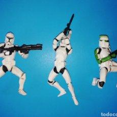 Figuras y Muñecos Star Wars: STAR WARS FIGURAS CLONE TROOPERS X3. Lote 195403177