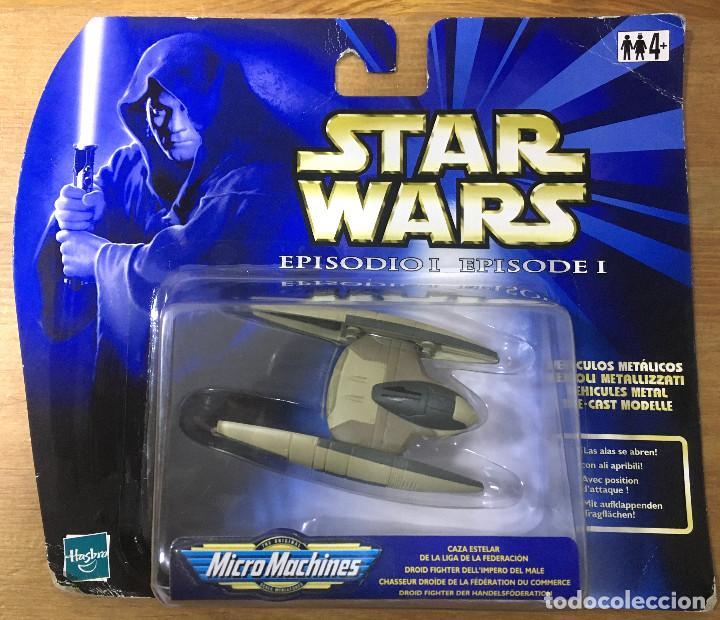 STAR WARS EPIDODIO I - VEHÍCULO METÁLICO - CAZA ESTELAR - MICROMACHINES (Juguetes - Figuras de Acción - Star Wars)