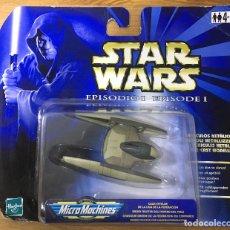 Figuras y Muñecos Star Wars: STAR WARS EPIDODIO I - VEHÍCULO METÁLICO - CAZA ESTELAR - MICROMACHINES. Lote 196488891