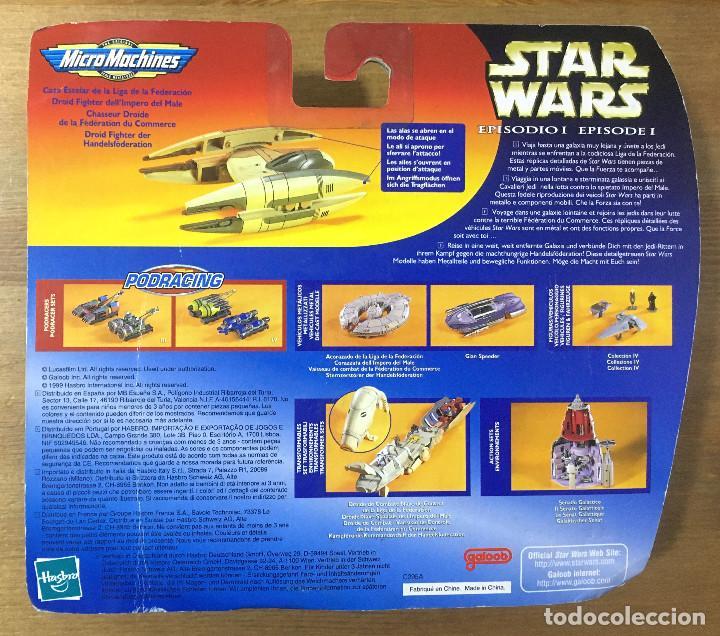 Figuras y Muñecos Star Wars: STAR WARS EPIDODIO I - VEHÍCULO METÁLICO - CAZA ESTELAR - MICROMACHINES - Foto 2 - 196488891