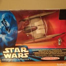 Figuras y Muñecos Star Wars: CAZA ESTELAR DROIDE, FEDERACIÓN DE COMERCIO. STAR WARS. ACTION FLEET .HASBRO 1999. Lote 196788843