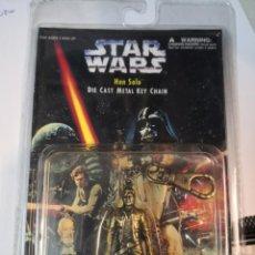 Figuras y Muñecos Star Wars: STAR WARS -HAN SOLO 1977 PLACO TOYS LLAVERO METALICO EN SU BLISTER PRECINTADO. COLECCIONABLE. Lote 220898838
