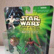 Figuras y Muñecos Star Wars: DARTH MAUL WITH SITH ATTACK DROID - POWER OF THE JEDI - 2000. Lote 199476758