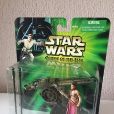 Figuras y Muñecos Star Wars: PRINCESS LEIA WITH SAIL BARGE CANNON - POWER OF THE JEDI - 2000. Lote 199476856