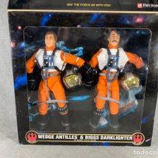 Figure e Bambolotti Star Wars: WEDGE ANTILLES Y BIGGS DARKLIGHTER - STAR WARS - ACTION COLLECTION- KENNER 1998. Lote 199586512