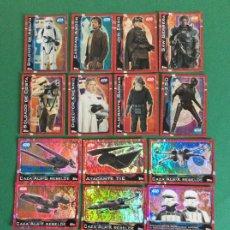 Figure e Bambolotti Star Wars: LOTE DE 15 CROMOS DE STARS WARS ROGUE ONE CARTA ESPECIALES BRILLANTE. Lote 201299838