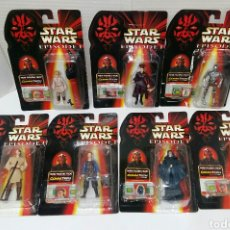 Figuras y Muñecos Star Wars: LOTE 7 STAR WARS EPISODIO I COMMTECH CHIP. BOOTLEG. NUEVOS EN BLISTER. SIDIOUS,C3PO,ANAKIN,PADME... Lote 202491870