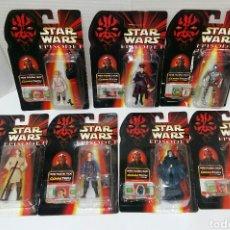 Figure e Bambolotti Star Wars: LOTE 7 STAR WARS EPISODIO I COMMTECH CHIP. BOOTLEG. NUEVOS EN BLISTER. SIDIOUS,C3PO,ANAKIN,PADME... Lote 202491870