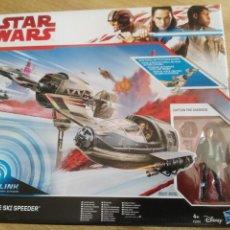 Figuras y Muñecos Star Wars: STAR WARS HASBRO - RESISTANCE SKI SPEEDER- CAPTAIN POE DAMERON -. Lote 203265535
