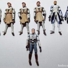 Figuras y Muñecos Star Wars: LOTE FIGURAS STAR WARS HASBRO GUERRAS CLON.OBI WAN.CAPITAN REX.2008 #02. Lote 203293745