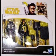 Figuras y Muñecos Star Wars: STAR WARS PACK # KESSEL GUARD & LANDO CALRISSIAN # FORCE LINK -NUEVO EN SU CAJA ORIGINAL DE HASBRO.. Lote 203584962