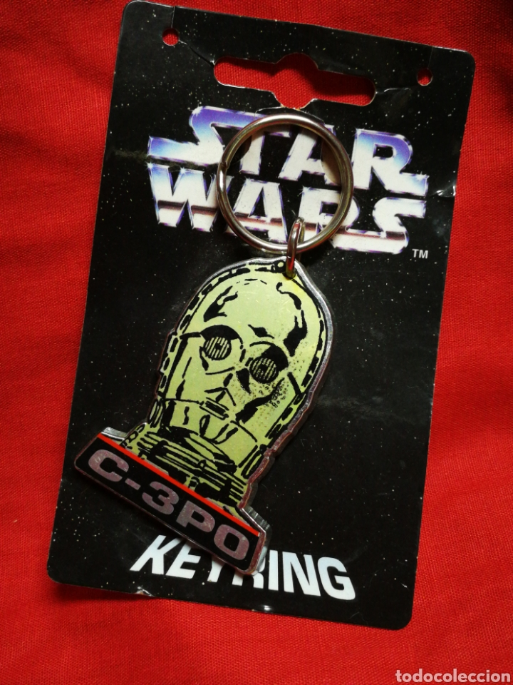 LLAVERO STAR WARS C-3PO, KEYRING- PRODUCTO OFICIAL, LUCASFILM 1996. RARO!!!. (Juguetes - Figuras de Acción - Star Wars)