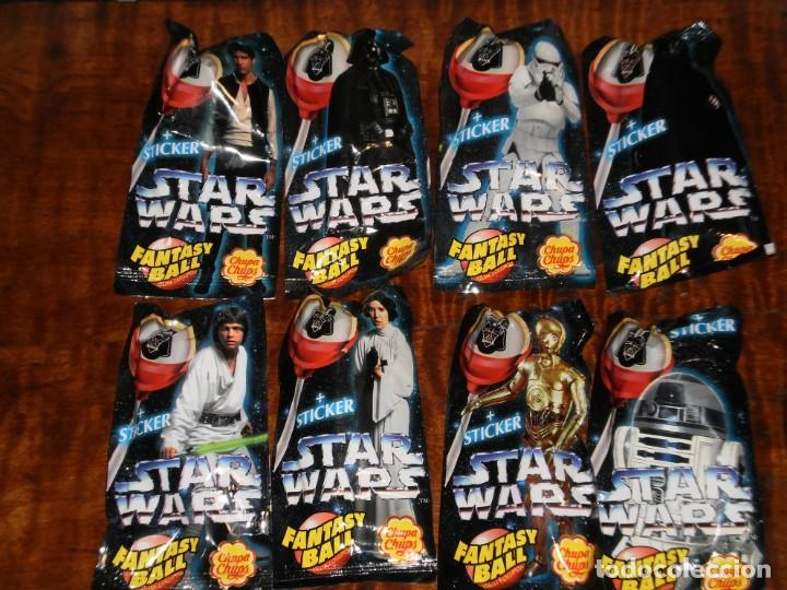 Figuras y Muñecos Star Wars: CHUPA CHUPS - SERIE STAR WARS - 8 SOBRES con su chupachup - DIFERENTES Y SIN ABRIR - 1996 - Foto 2 - 204177760