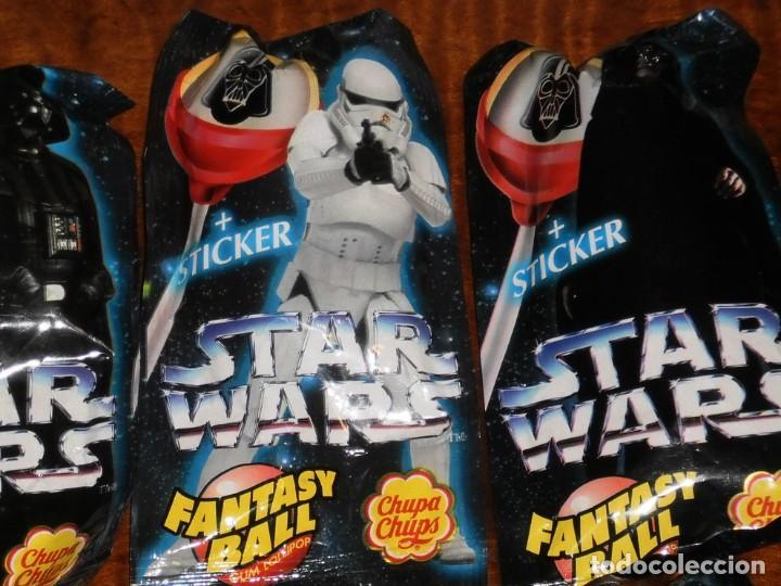Figuras y Muñecos Star Wars: CHUPA CHUPS - SERIE STAR WARS - 8 SOBRES con su chupachup - DIFERENTES Y SIN ABRIR - 1996 - Foto 4 - 204177760