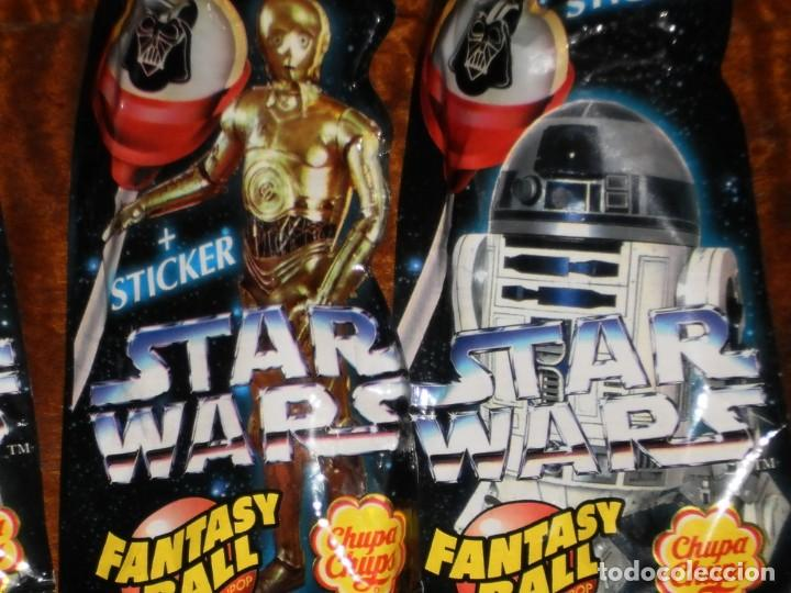 Figuras y Muñecos Star Wars: CHUPA CHUPS - SERIE STAR WARS - 8 SOBRES con su chupachup - DIFERENTES Y SIN ABRIR - 1996 - Foto 5 - 204177760