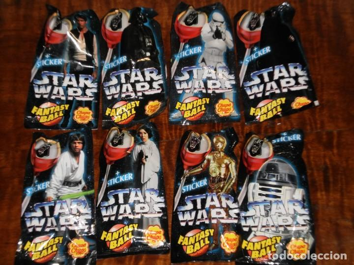 Figuras y Muñecos Star Wars: CHUPA CHUPS - SERIE STAR WARS - 8 SOBRES con su chupachup - DIFERENTES Y SIN ABRIR - 1996 - Foto 8 - 204177760