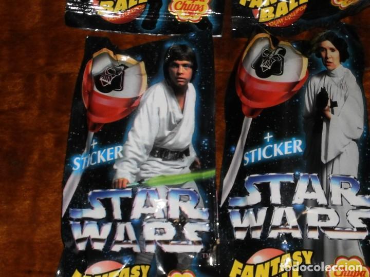 Figuras y Muñecos Star Wars: CHUPA CHUPS - SERIE STAR WARS - 8 SOBRES con su chupachup - DIFERENTES Y SIN ABRIR - 1996 - Foto 9 - 204177760