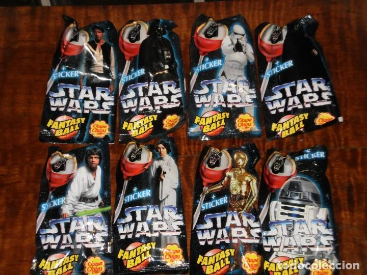 Figuras y Muñecos Star Wars: CHUPA CHUPS - SERIE STAR WARS - 8 SOBRES con su chupachup - DIFERENTES Y SIN ABRIR - 1996 - Foto 11 - 204177760