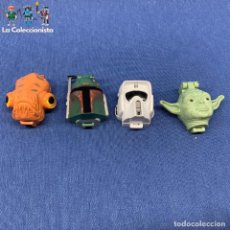 Figuras e Bonecos Star Wars: LOTE DE 4 MICROMACHINES - STAR WARS - CABEZA MINIHEAD - LFL LGT 1996. Lote 204806681