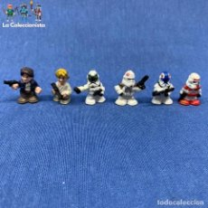 Figuras y Muñecos Star Wars: LOTE DE 6 FIGURAS FIGHTER PODS - 2.5 CM - STAR WARS. Lote 204807498