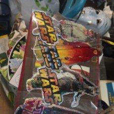 Figuras y Muñecos Star Wars: COLECCION STAR WARS 4 PEGATINA BRILLANTE 20CM APROXIMADAMENTE. Lote 205164602