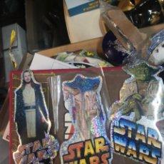 Figuras y Muñecos Star Wars: COLECCION STAR WARS 3 PEGATINA BRILLANTE 20CM APROXIMADAMENTE. Lote 205165137