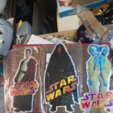 Figuras y Muñecos Star Wars: COLECCION STAR WARS 3 PEGATINA BRILLANTE 20CM APROXIMADAMENTE. Lote 205165382