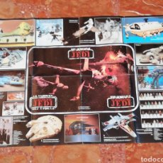 Figuras y Muñecos Star Wars: STAR WARS VINTAGE RETURN OF THE JEDI TRILOGO POSTER ORIGINAL 1983. Lote 205758898