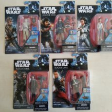 Figuras y Muñecos Star Wars: STAR WARS LOTE 5 BLISTERS SIN ABRIR ROGUE ONE HASBRO. Lote 205806121