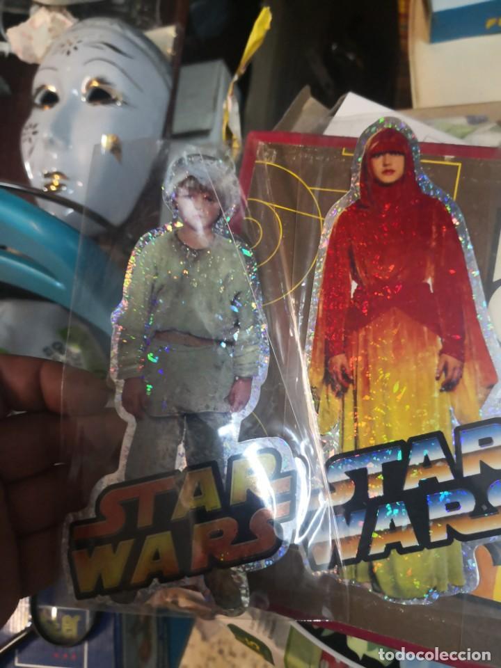 Figuras y Muñecos Star Wars: Coleccion star wars 4 pegatina brillante 20cm aproximadamente - Foto 2 - 206268700
