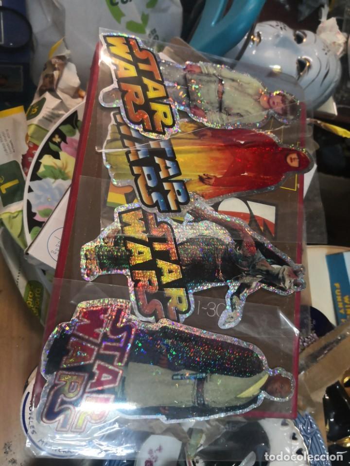 COLECCION STAR WARS 4 PEGATINA BRILLANTE 20CM APROXIMADAMENTE (Juguetes - Figuras de Acción - Star Wars)