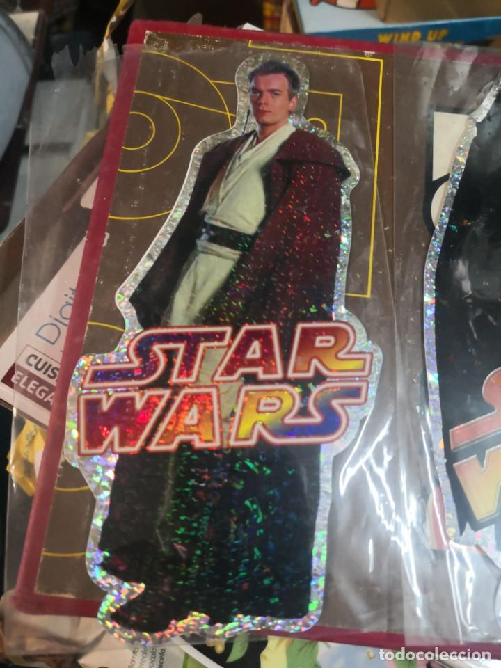 Figuras y Muñecos Star Wars: Coleccion star wars 3 pegatina brillante 20cm aproximadamente - Foto 3 - 206268780