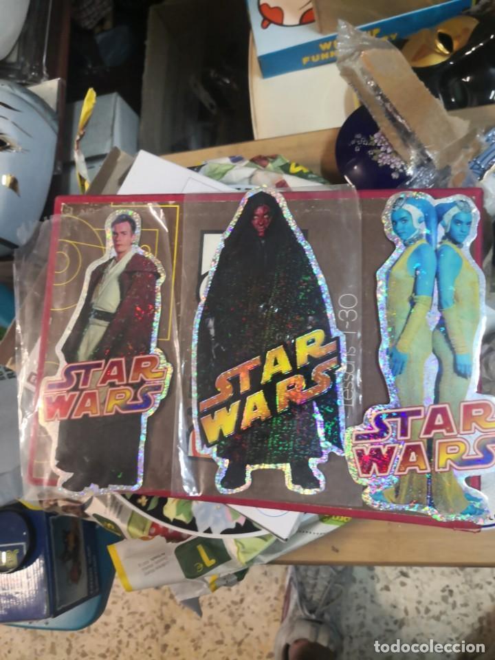 COLECCION STAR WARS 3 PEGATINA BRILLANTE 20CM APROXIMADAMENTE (Juguetes - Figuras de Acción - Star Wars)
