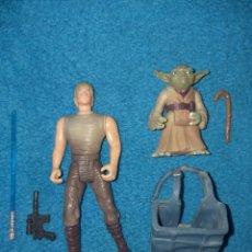 Figuras y Muñecos Star Wars: STAR WARS FIGURAS LUKE SKYWALKER Y YODA DAGOBAH POTF KENNER. Lote 206497275