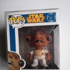 Figuras y Muñecos Star Wars: STAR WARS ADMIRAL ACKBAR 28 FUNKO POP FIGURA DE COLECCIÓN RETIRADA VAULTED RARA. Lote 207291535